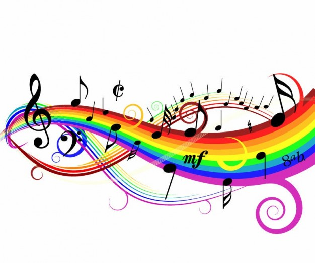 Colorful Music Notes In A Line   Clipart Panda   Free Clipart Images