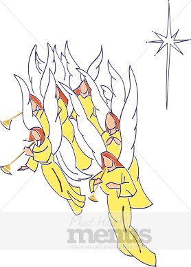 Eps Png Word Jpg Tweet Angels Clipart A Heavenly Host Of Angels Gather