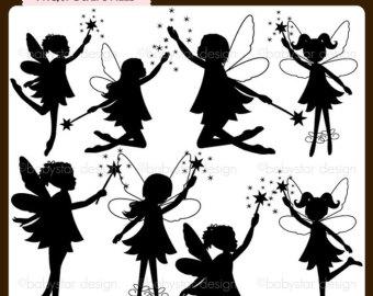 fairy silhouette clip art grey � cliparts