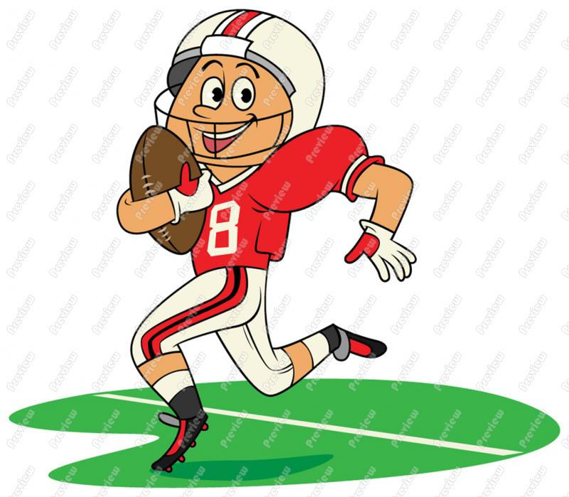 Playing Football Clipart - Clipart Kid