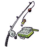 fishing supplies clipart - clipart kid, Fishing Rod