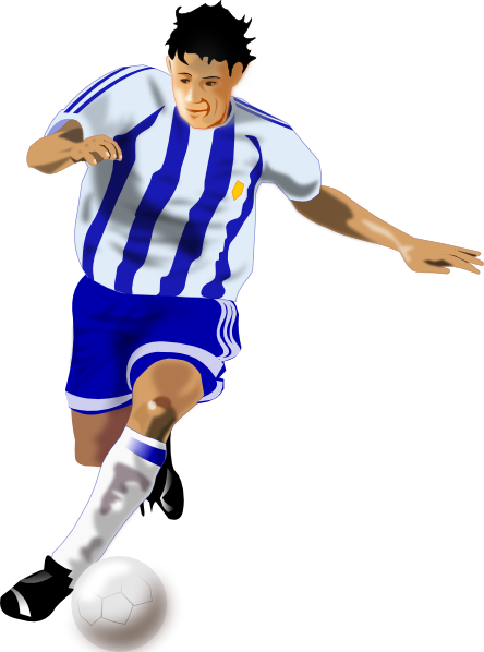 Futbolista Soccer Player Clip Art At Clker Com   Vector Clip Art