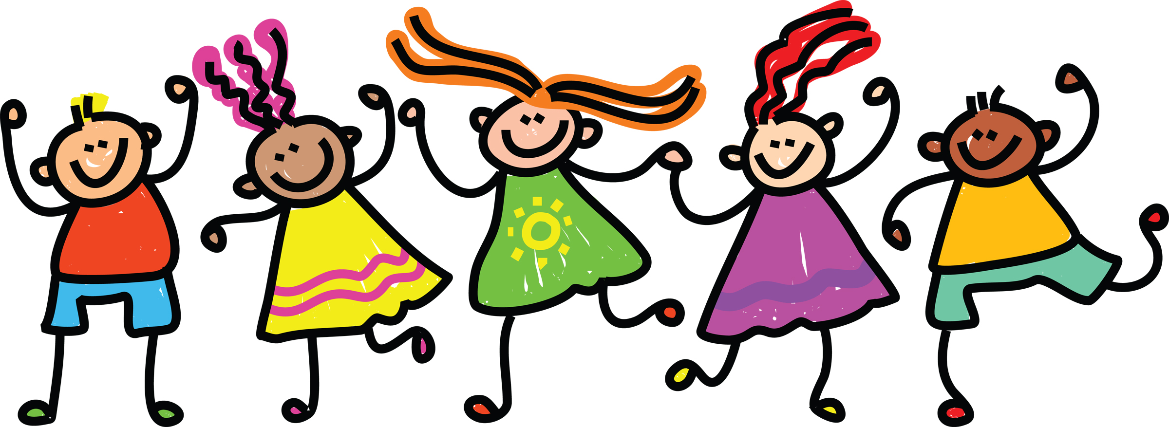 Group Of Kids Clipart Happy Kids Clipart Jpg