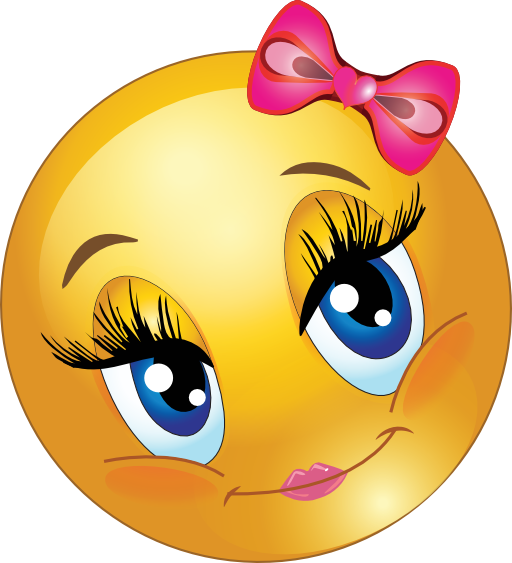 Image   Clipart Cute Lovely Girl Smiley Emoticon 512x512 52f3 Png   My