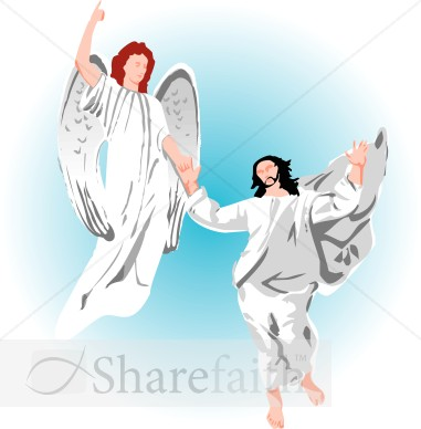 Jesus And Angels Christian Clipart   Ascension Day Clipart