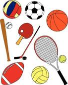 Sports Equipment Clipart And Illustrations