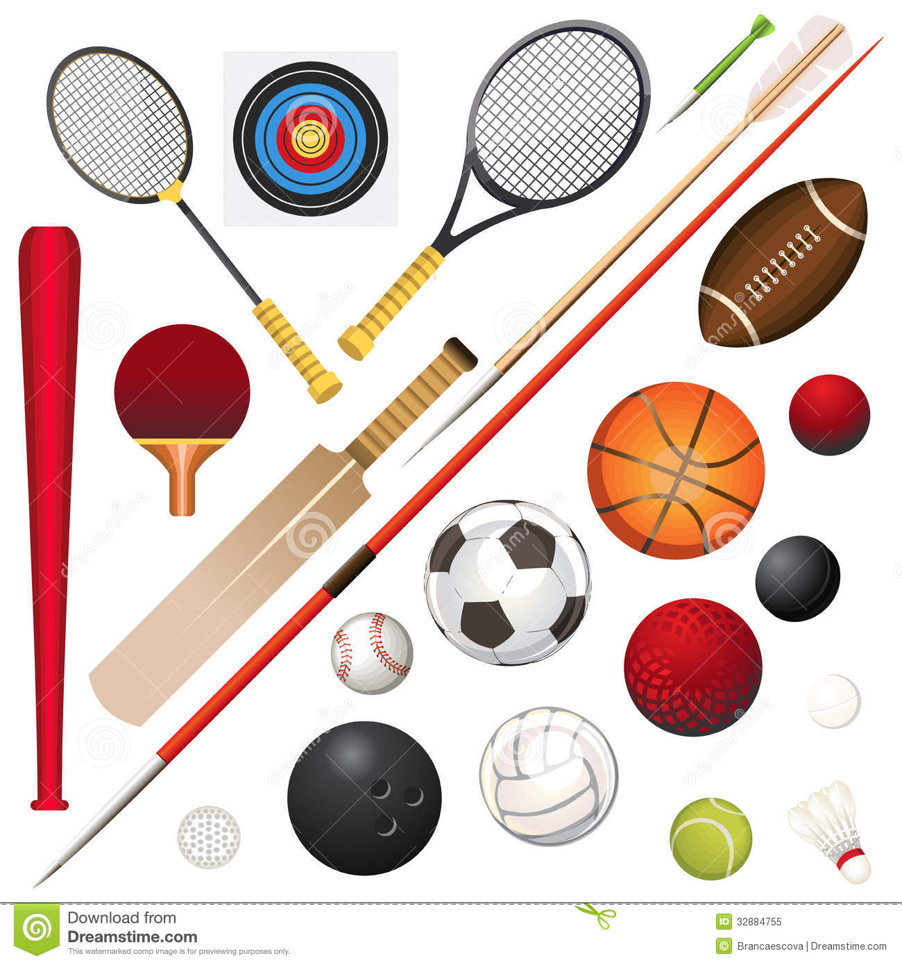 Sports Equipment Royalty Free Stock Photo   Image  32884755