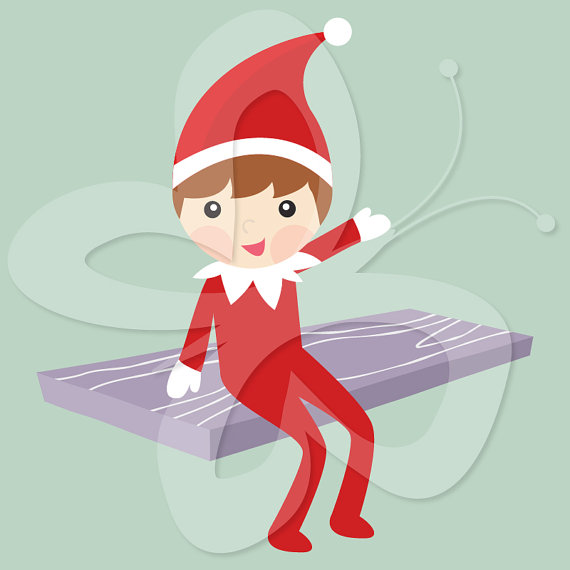 Clip Art Elf On The Shelf Clipart elf on the shelf clipart kid clip art commercial and personal use