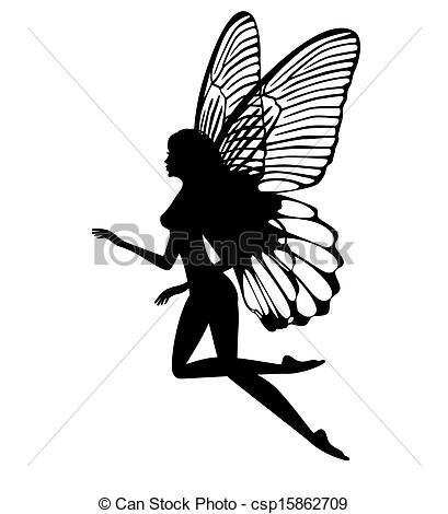 Fairy Silhouette Clipart - Clipart Kid