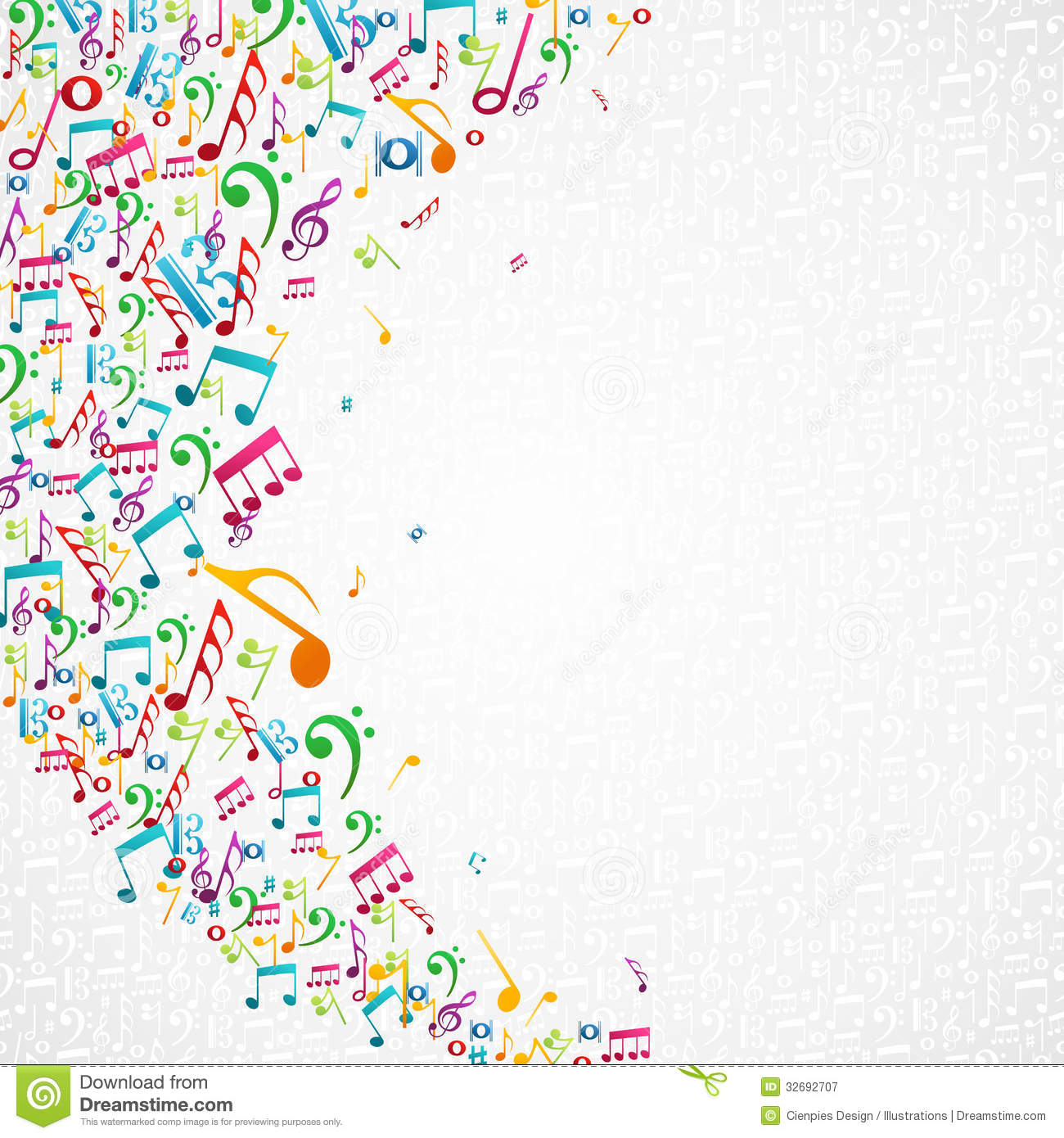 Colored Musical Notes Vector Illustration Background Of Photos Music Black  And White Images Pictures For Kids Emoji – Slavyanka