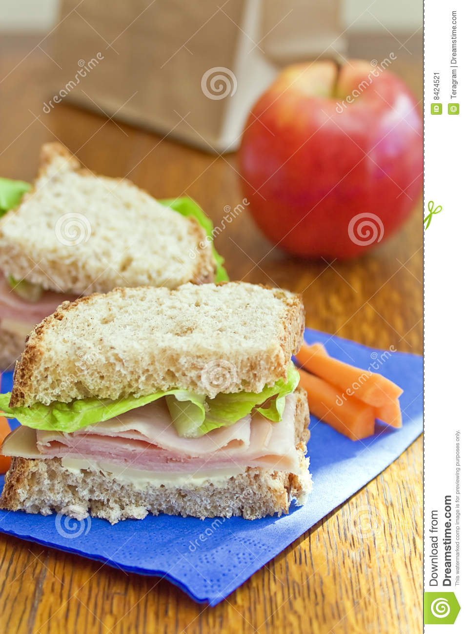 Brown Bag Lunch Stock Image   Image  8424521