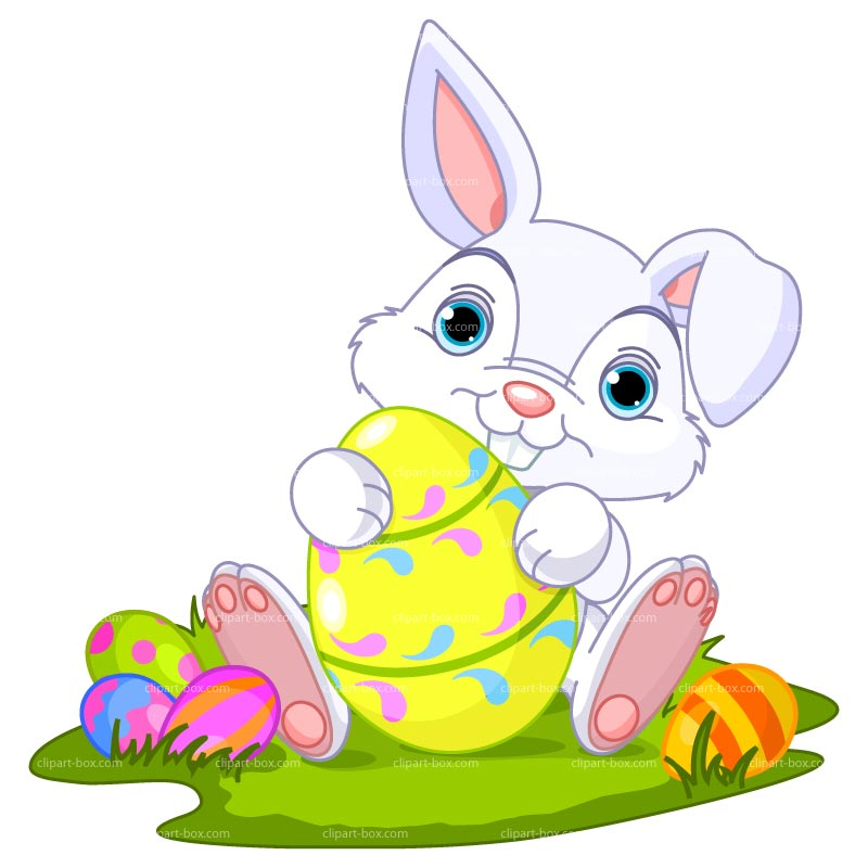 Clipart Easter Bunny   Royalty Free Vector Design