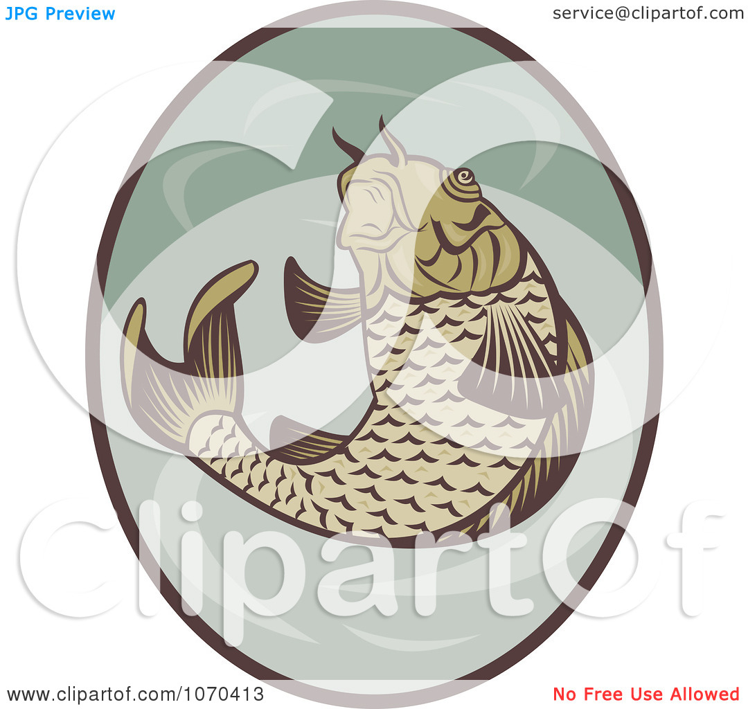 Clipart Jumping Koi Fish Logo   Royalty Free Vector Illustration By