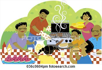 Clipart   Labor Day Cookout  Fotosearch   Search Clipart Illustration