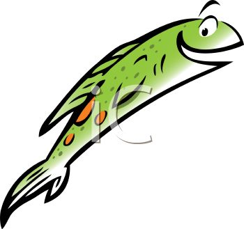 Fish Jumping Out Of Water   Royalty Free Clip Art Image