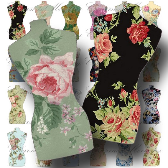Floral Dress Form Cut Outs 1  Digital Collage Sheet   Buy 3 Sheets And