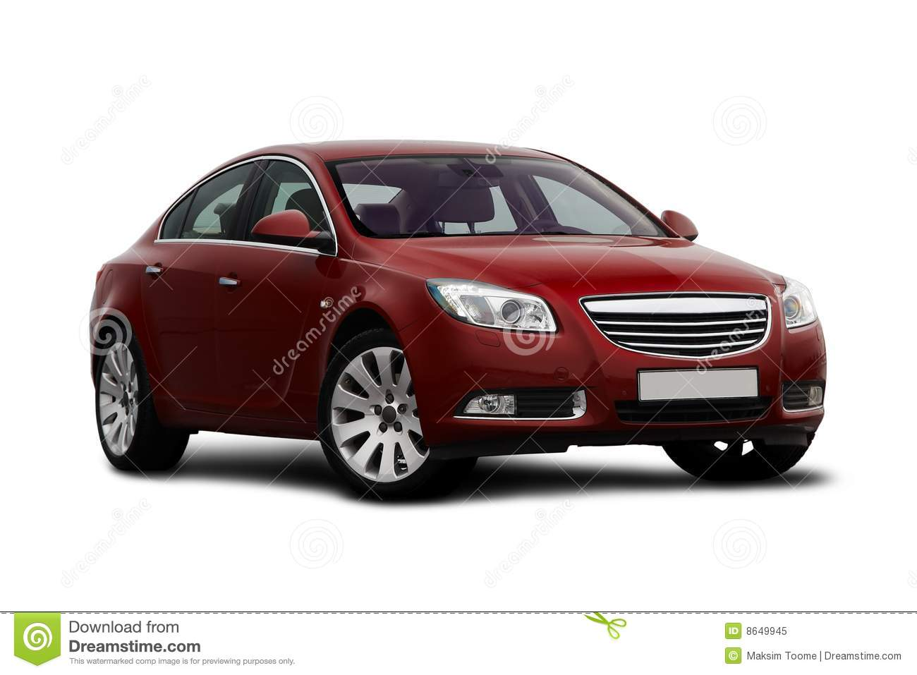 Front Side View Of Cherry Red Car Royalty Free Stock Photo   Image