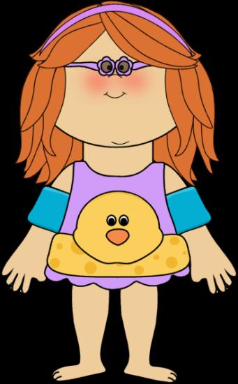 Girl Swimming Clipart - Clipart Kid