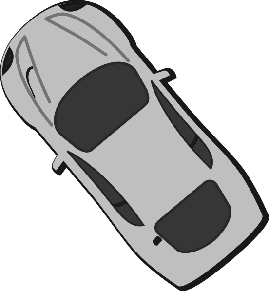Gray Car Top View 180 Clip Art Car Pictures