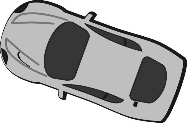 Gray Car Top View 230 Clip Art Car Pictures