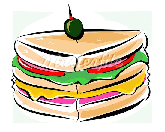 Healthy Sandwich Clipart