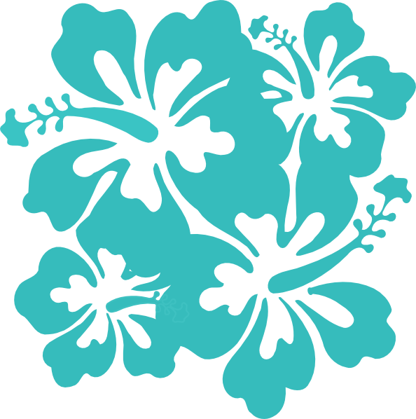 teal hibiscus clipart clipart suggest