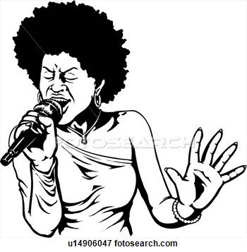 Female Soul Singer Clipart - Clipart Suggest