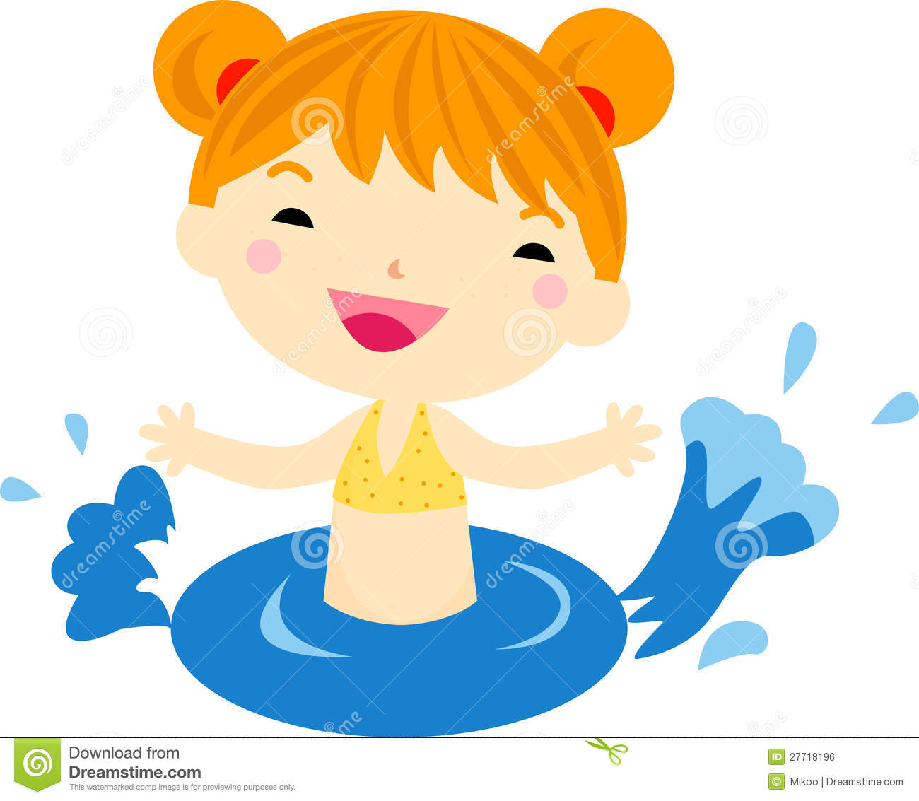 Girl Swimming Clipart - Clipart Kid