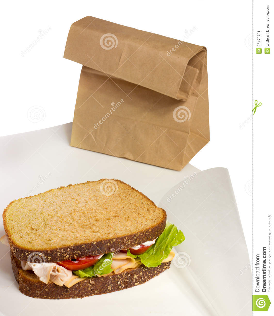 Lunch Sandwich Stock Image   Image  26470781
