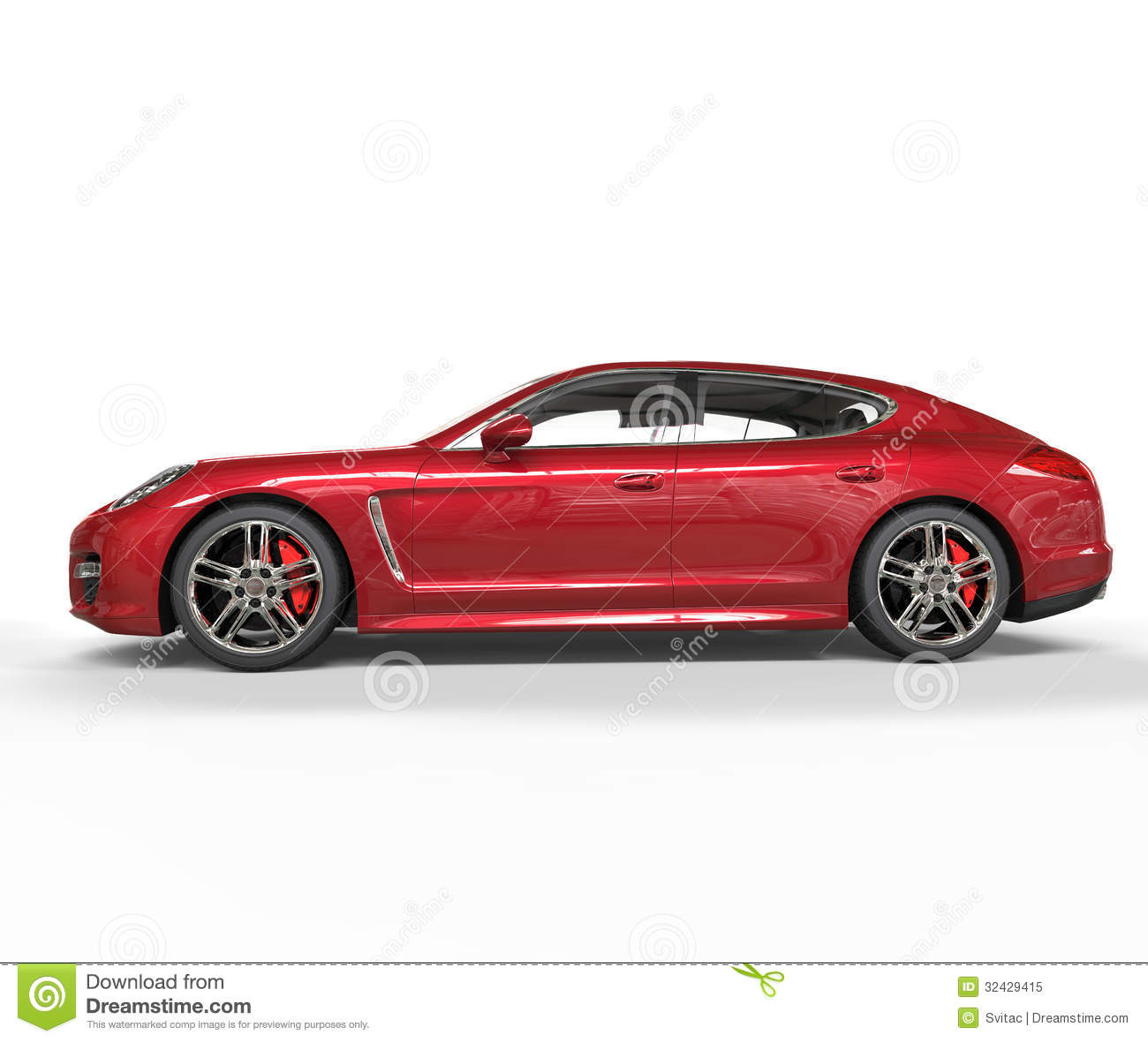 Race Car Side View Clipart Red Fast Car Side View