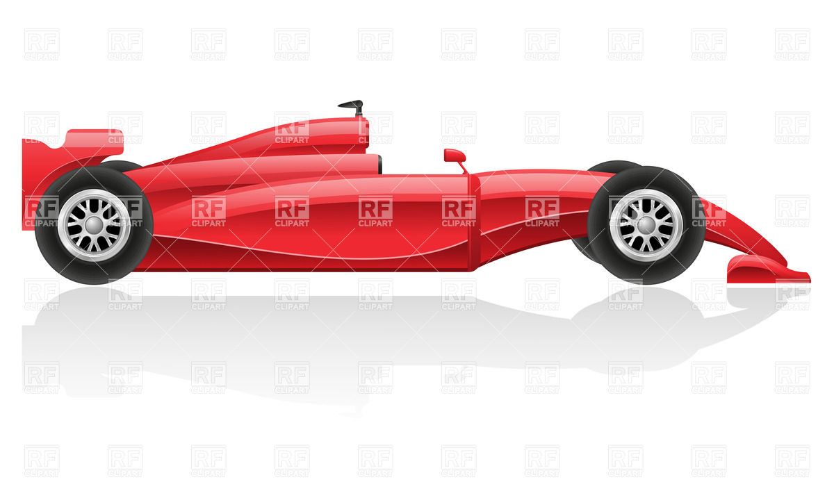 Red Racing Car   Side View 38330 Download Royalty Free Vector