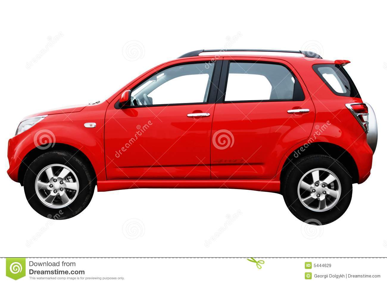 Side View Af A Red Modern Car Royalty Free Stock Images   Image
