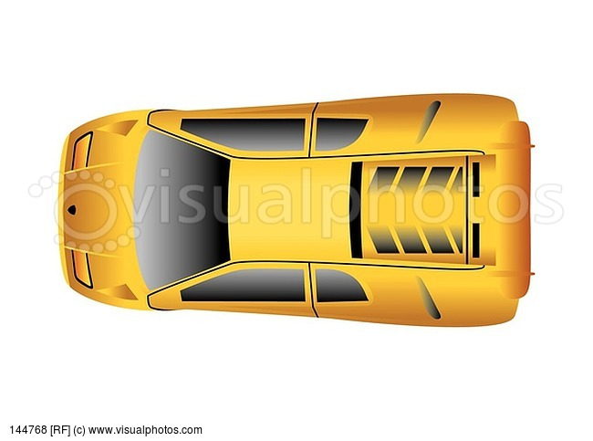 Sport Car Top View Illustration