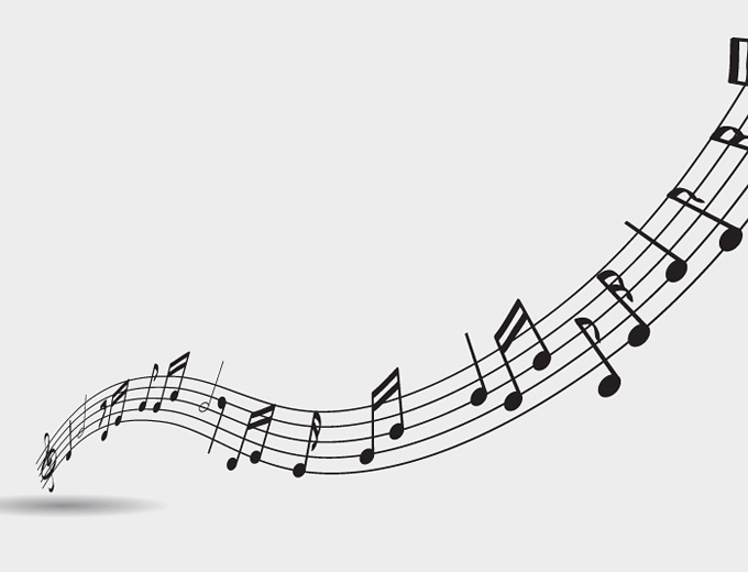 Vector Graphics Isolated Music Music Note Background Music Notes Music