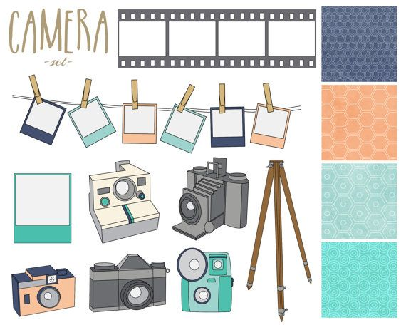 60 Off Sale Camera Digital Clipart Vintage By Thepaperpegasus  2 00