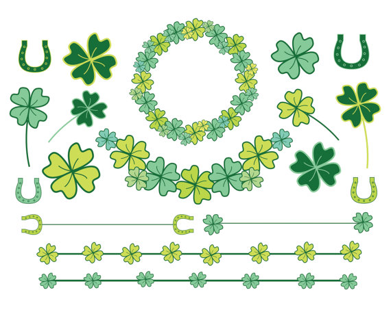 60  Off Sale Clipart Clip Art Clovers St Patricks Day Four Leaf