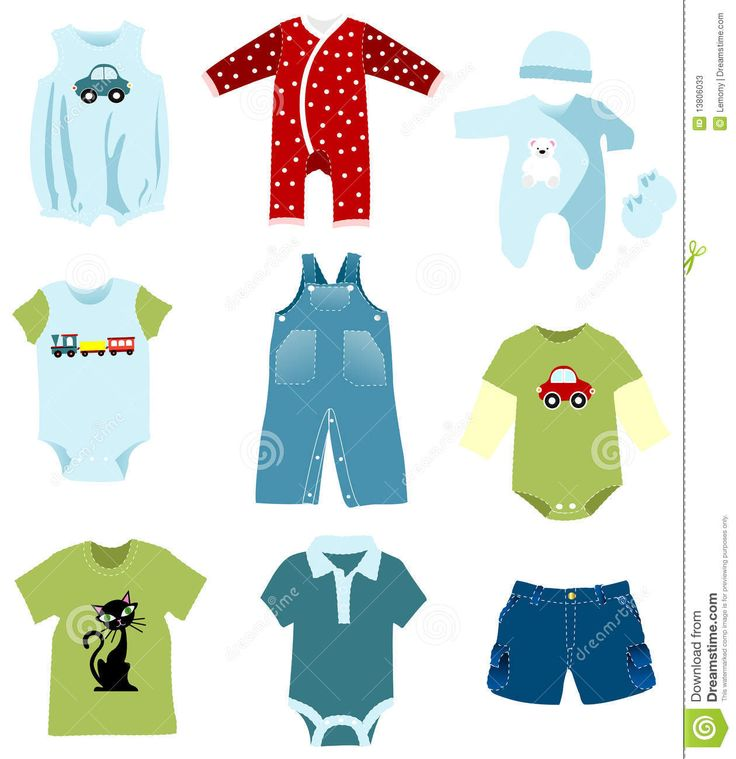 Baby Boy Clothes Clipart   Google Search   Digi Art   Baby   Pinterest