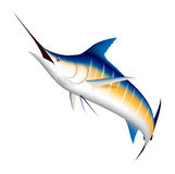 Blue Marlin Fish In Ocean Waves For Mascot Design