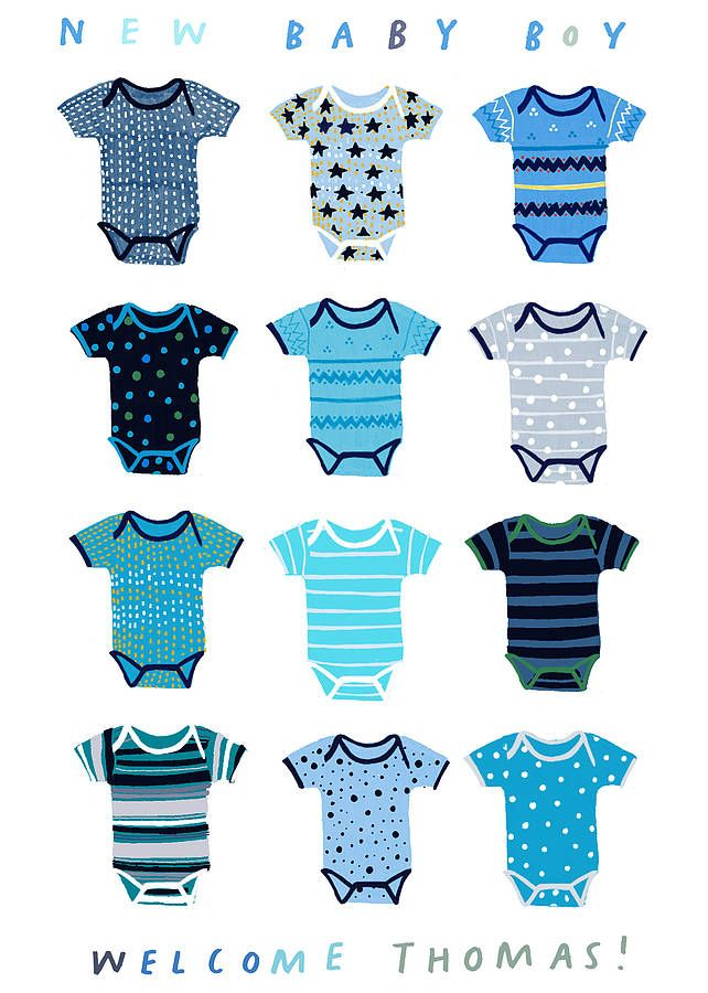 Clipart Baby Boy Clothes  New Baby Boys Cards Design Baby Blessed