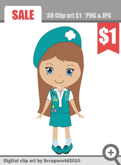 Girl Scout Cadette Clipart - Clipart Kid