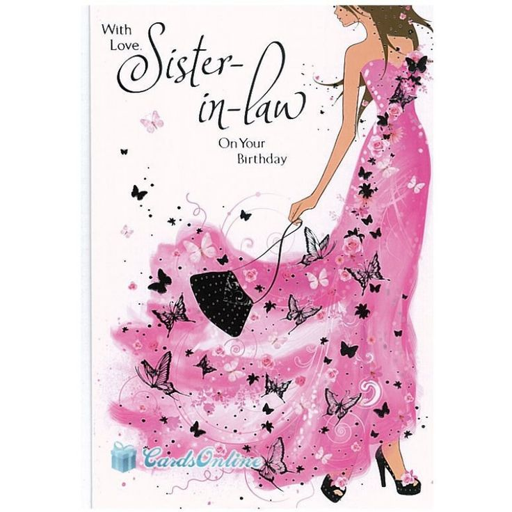 Sisterinlaw Blessingss Clipart Clipart Kid – Sister in Law Birthday Card