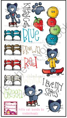 Kitty Cat Bundle From Melonheadz Illustrations On Teachersnotebook Com