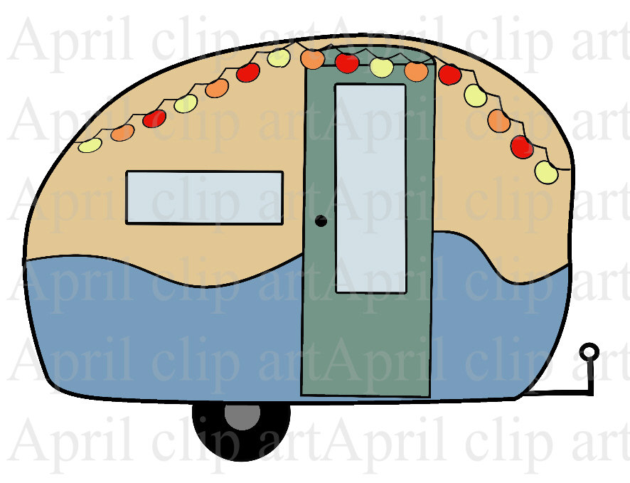 Off Sale Camper Travel Trailer 1 Digital Clip Art Digital Clipart
