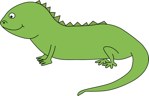 Pin Clipart Cute Iguana Lizard Hanging Over A Sign Royalty Free Vector