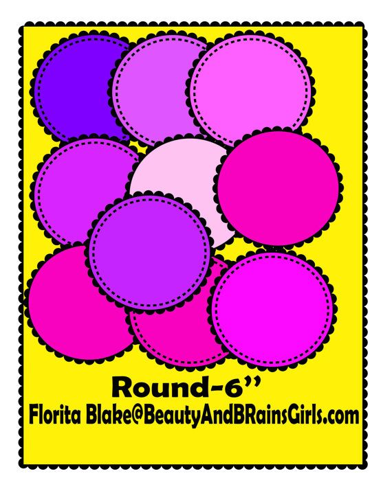Sale No Credit Clipart Frame Circle Frame By Beautyandbrainsgirls  2