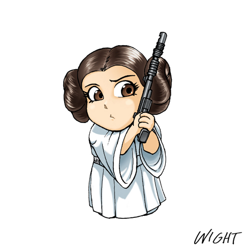 Super Chibi Star Wars Alphabet  P Is For Princess By Joewight