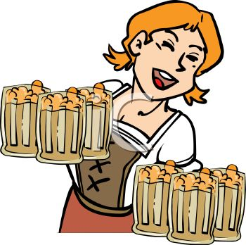 This German Barmaid Serving At Oktoberfest Clipart Image Can Be