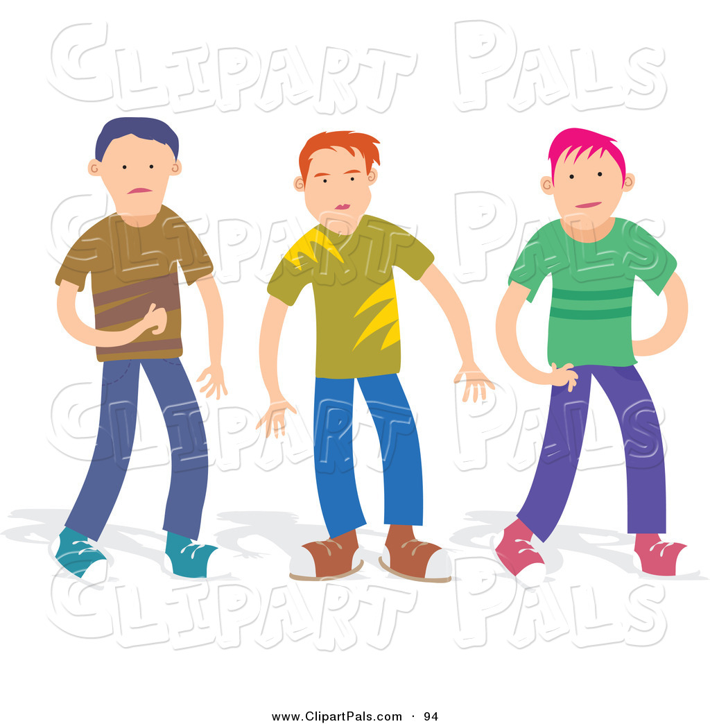 Trio Of Boys In Casual Clothes Friend Clip Art Prawny