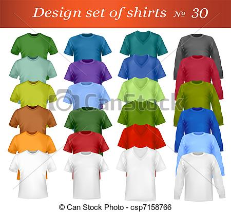 Vector   Color T Shirt Design Template    Stock Illustration Royalty