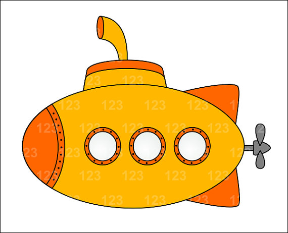 Clip Art Submarine Clipart submarine clipart kid yellow cute single